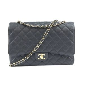 Classic Flap Crossbody Black Caviar Shoulder Bag